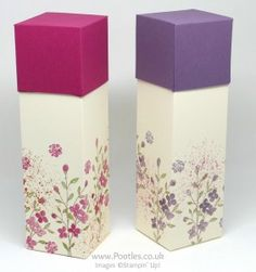 Stampin' Up! Demonstrator Pootles - Hand Decorated Box using Touches of Texture
