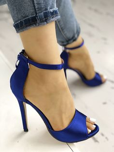 Shop Sexy Open Toe Strap Anklet Heeled Sandals right now, get great deals at joyshoetique Hot High Heels, Sexy Heels, Stiletto Heels, Prom Shoes, Womens Fashion Online, Anklets, Cute Shoes, Open Toe, Shoe Boots