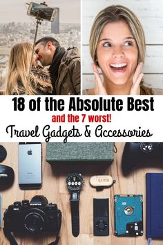 travel accessories All of the best (and some of the worst!) travel gadgets, accessories and tech for men, women and kids! Super useful for international flights, business trips and road trips! Packing Tips For Travel, Travel Essentials, Travel Checklist, Nouveaux Gadgets, Best Travel Gadgets, Travel Hacks, Rv Travel, Time Travel, Travel Bag