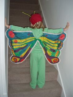 so cute. wish i had a girl to make it for. Butterfly Fancy Dress, Butterfly Costume, Butterfly Wings, Fancy Dress Costumes Kids, Dress Up Costumes, Kids Dress Up, Fancy Dress For Kids, Costume Ideas, Toddler Costumes