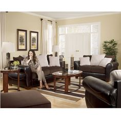 Chocolate Living Room Furniture Sets | ... living room furniture living room sets voltage chocolate living room