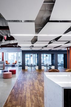 Corporate Flooring: Burgess Group from Parterre Flooring. View our extensive collection of professional grade vinyl flooring today! Luxury Vinyl Flooring, Luxury Vinyl Plank, Corporate Office Design, Gold Interior, Modern Spaces, Architecture, Antiques, Clinic, Arquitetura