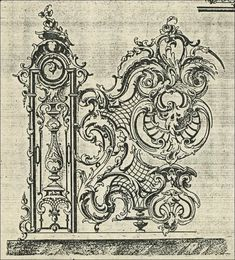 Baroque Architecture, Historical Architecture, Filigree Tattoo, Classical Realism, Planets Wallpaper, White Ornaments, Wrought Iron Gates, Grisaille, Sculpture Painting
