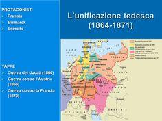 L'unificazione tedesca (1864-1871) I protagonisti: Prussia, Bismarck Tappe: guerra dei ducati, guerra contro l'Austria, guerra contro la Francia...