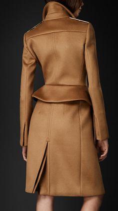 Tailored Peplum Coat | Burberry