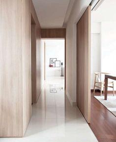 Pale colour palette inside the Natura Loft Apartment in Singapore by  AO Studios. Photo: Alvin Oh.