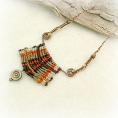 Gypsy magic micro macrame necklace with by MammaEarthCreations/etsy