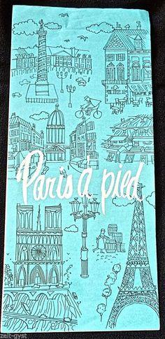 AIR FRANCE AIRLINES 1964-PARIS A' PIED TOURIST MAP-GUIDE-HELP- BROCHURE