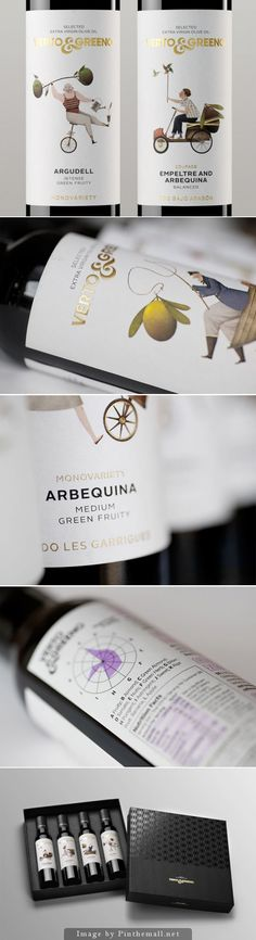 Verto e Greeno. Design and packaging project for oil product. Designed by: Global Image, Spain.