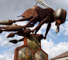Honeybee Sculpture at Enabling Garden in Altoona, IA