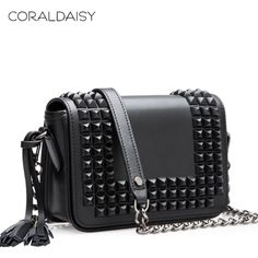 Croaldaisy 2014 Spring Fashion Women Leather Bag Mini Shoulder Bag Tassels Messenger Bags