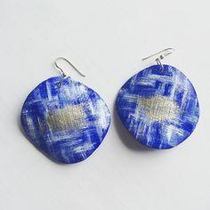 some new #earrings #clay #jewelry #ohrringe #earringslover #blue
