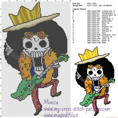 Brooke (One Piece) cross stitch pattern