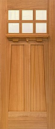 Craftsman entry door in Pacific cherry & Front Door. Mission Style Door. Craftsman Door with Transom . More ... Pezcame.Com