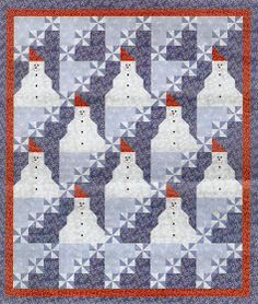 Quilt Inspiration: Free pattern day: Snowmen !
