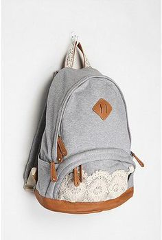 school bag. Urban Outfiters. But you could totally DIY this  Back Packs  School b2d85a4d4665b