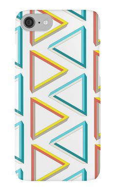 """""""Ultra geeky impossible triangle pattern."""" iPhone Cases & Skins by cesarpadilla   Redbubble"""
