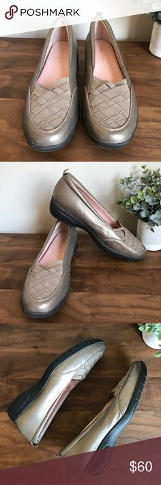 Taryn Rose Alick Lattice Flats Size 9M A latticework design sculpts the stretchy upper of a sleek wedge that's sure to be a go-to for work meetings or running errands.   Leather and textile upper/leather lining/rubber sole. By Taryn Rose; imported. Taryn Rose Shoes