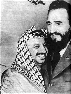 President Fidel Castro and the late Palestinian leader Yasser Arafat, during his visit to the island in November 1974. Description from malik4u.blogspot.com. I searched for this on bing.com/images