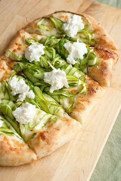 Shaved Asparagus Pizza by Isabelle @ Crumb, via Flickr