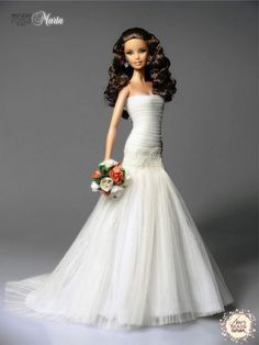 Barbie dolls holds, anything from old-fashioned wood buildings to Barbie Dreamhouses. Barbie dolls holds, anything from old-fashioned wood buildings to Barbie Dreamhouses. Barbie Bridal, Barbie Wedding Dress, Wedding Doll, Barbie Dress, Barbie Clothes, Wedding Dresses, Barbie Vintage, Barbie E Ken, Bride Dolls