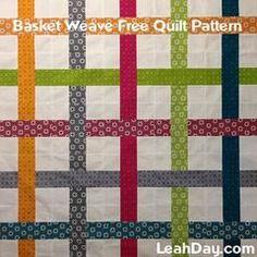 Basket Weave Free Patchwork Quilt Pattern
