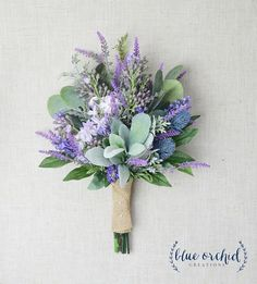 Wedding Bouquet Bridal Bouquet Lavender and Lilac wildflower