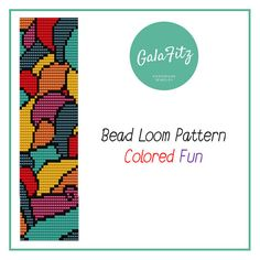 Bead loom colored pattern by GalaFitz on Etsy