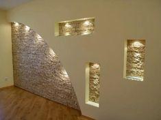 Каменни стени за всекидневната   Idei.BG