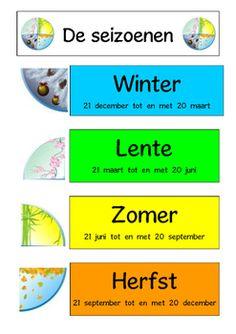 De seizoenen - by Fabienne's Classroom Grade R Worksheets, Learn Dutch, Phonics Song, Dutch Words, Dutch Language, School Posters, School Hacks, Fun Learning, Homeschool