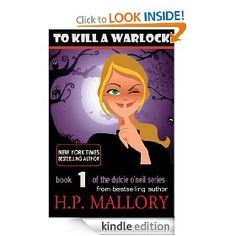 To Kill a Warlock.  H.P. Mallory.  I love her books. Dulce O'Neil is a law enforcement officer for the Paranormal and when a Dark Arts Wizard is murdered she's called into duty.  This is the first book in her series.  It is a FREE download from Amazon today 30 August - this is a great way to find out if you like a new author.