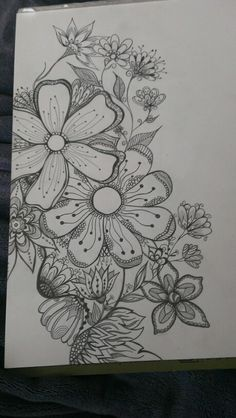 Maggie Klein doodle flower