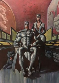 Batman and Catwoman by Mark Texeira