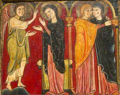 Anunciación y Visitación del frontal de Avià