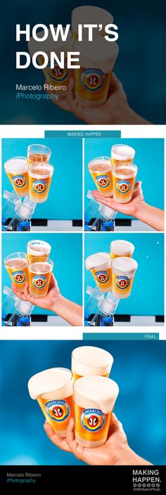 Ad created by AlmapBBDO agency for brand Antarctica beers (Ambev). Photography by Marcelo Ribeiro. #How #Done #MRibeiroPhoto #MakingHappen