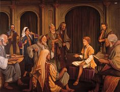 Authority of Jesus painting | young jesus teaching in the temple john baptizes jesus jesus
