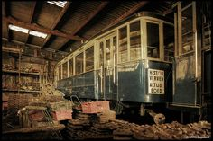 Abandoned tram depot, Netherlands - what a COOL place for a photo shoot!!