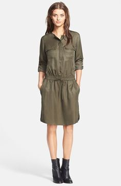 Vince Rolled Sleeve Cargo Dress available at  Nordstrom Vegan Fashion 54ad5b85a7be5