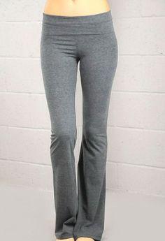 LA Base Women`s Long Yoga pants with Fold Down Waist $6.70 (75% OFF)