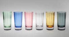 Artel faceted glass barware, available in a beautiful palette of pastel colours for your spring table.