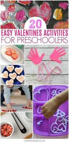 valentines activities for preschool easy fine motor science gross motor #valentinesday #preschool #kidsactivities #kidsart #finemotor