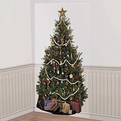 5' - O Christmas Tree Scene Setter Add-On. Don't have enough room for a Christmas tree why not use this giant wall decoration. It's over 5 Feet Tall! This fun take on a Christmas tree is sure to please everyone!