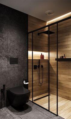 Washroom Design, Toilet Design, Bathroom Design Luxury, Bathroom Layout, Modern Bathroom Design, Interior Design Kitchen, Bathroom Ideas, Bathroom Organization, Industrial Kitchen Design