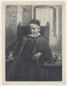 van Rijn 1606 - 1669 JAN LUTMA, GOLDSMITH (B. Etching with drypoint and engraving, a very good impression of New Hollstein's second or third state (of five) plate: 196 by 7 by 5 in sheet: 202 by 7 by Rembrandt Etchings, Rembrandt Drawings, Kos, Historical Maps, Old Master, Vintage Wall Art, Gravure, Vincent Van Gogh, Art History