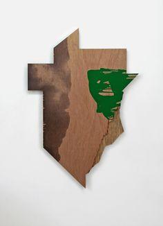 "Danish-born artist Signe Guttormsen (b. 1964) ""To the End of the World (I2)"", 2006. Acrylic on plywood, 148x102 cm. © Image courtesy of the artist. #art #kunst #danskkunst #danishart #contemporaryart"