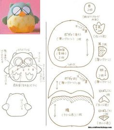 DIY Felt Owl Plushie - FREE Pattern / Template