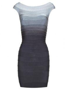 Blue Radiant Bandage Dress