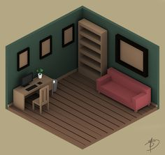 low poly room - חיפוש ב-Google