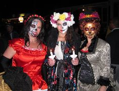 ♡ #inmymelos PIC OF the DAY (of the DEAD) ♡  An unexpectedly fantasmical lil' rendezvous with some beautiful friends. xo Dondi, Titanya and Melodia in Old Town, San Diego.