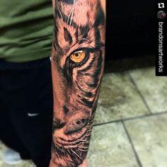 6f78ce243 Half Sleeve Tattoos Ideas - Tattoospedia Tiger Tattoo Thigh, Tiger Tattoo  Sleeve, Tiger Tattoo